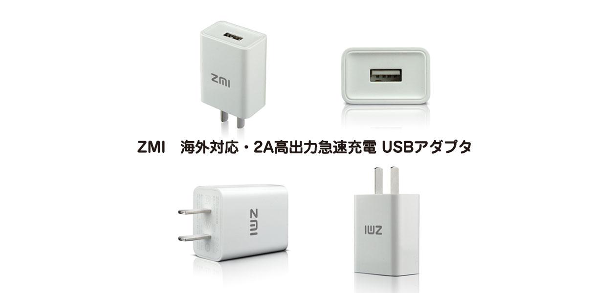海外対応・2A高出力急速充電 USBアダプタ